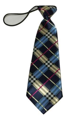 Enfants Garçon Satin Écossais Élastique Cravate Ecosse Bal Ecole UK