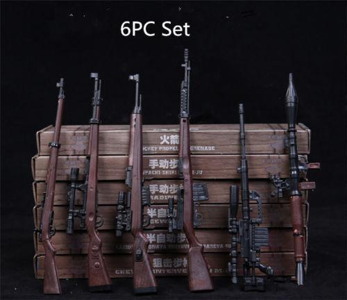 "USA 1//6 RPG M14 Automatic Rifle Assembly Weapon Model 6pcs Gun Toy F 12/"" Figure"