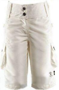 Girl-Capri-Cargo-Bermuda-Summer-short-Knicker-Fabric-Trousers-Exes-White-New-158