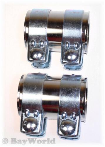 2St Auspuff Universal V2A Rohrverbinder Edelstahl 60x95 mm Doppelschelle 60x90