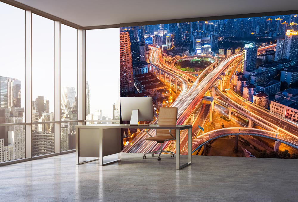 3D Luminous Overpass Wall Paper wall Print Decal Wall Wall Wall Deco Indoor wall Mural a9add4