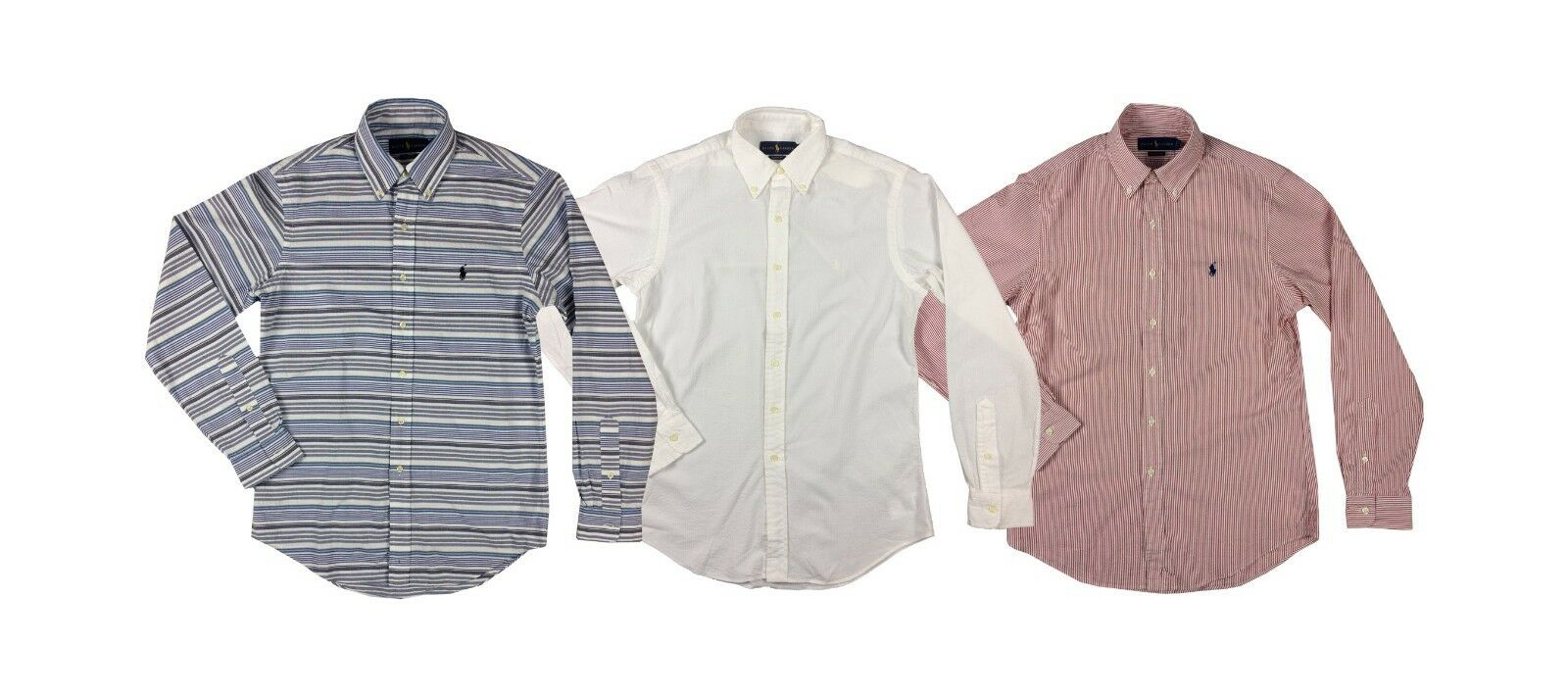 e2cd9590d488b9 Ralph Lauren Polo Mens Textured Pony Down Shirt Red White bluee New Logo  Button nwlvxj6085-Casual Shirts   Tops