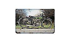 Enfield Standard Motorbike Sign Metal Retro Aged Aluminium Bike