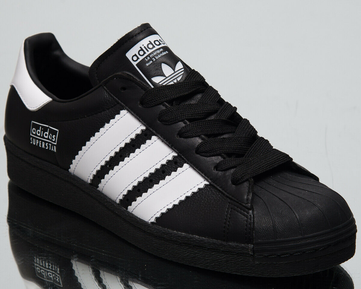 Adidas Original Superstar 80er Jahre Herren Neu Schwarz Weiß Lifestyle Turnschuhe Moderne und stilvolle Mode