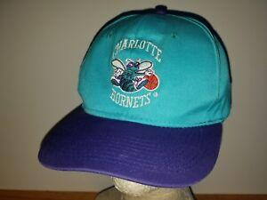 8be2e0d8 Image is loading Vintage-Charlotte-Hornets-Snapback-hat-cap-basketball-NBA