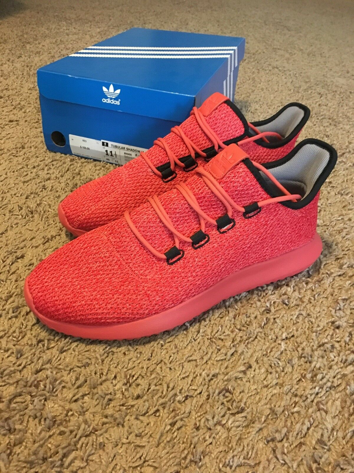 Adidas Tubular Shadow - rot- Mens Sz 11.5 100% Authentic New In Box