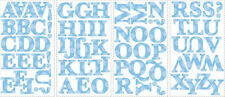 BLUE ALPHABET LETTERS wall sticker 73 decal school decor nursery personalize ABC