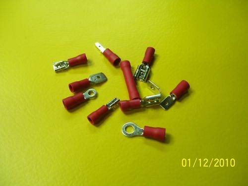 50 Kabelschuhe Quetschverbinder rot bis 1,5 mm²