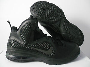 NIKE LEBRON 9 BLACK-ANTHRACITE BLACKOUT! SZ 8 [469764-001]