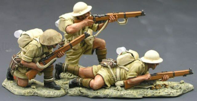 KING & COUNTRY WW2 BRITISH 8TH ARMY EA015 RETURNING FIRE MIB