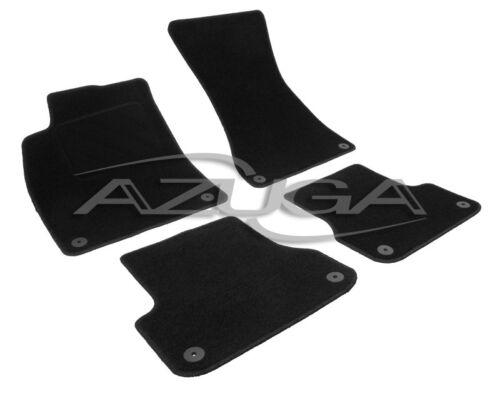 Velours-Fußmatten für Audi A6 4G ab 2011 Textilfußmatten Autoteppiche Automatten
