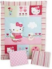 Hello Kitty and Puppy 3 Piece Crib Bedding Fitted Sheet Wall Hanging Dust Ruffle