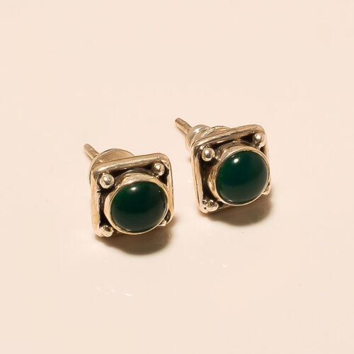 925 Sterling Silver Natural Multi Gemstone Fashion Handmade Stud Jewelry Earring