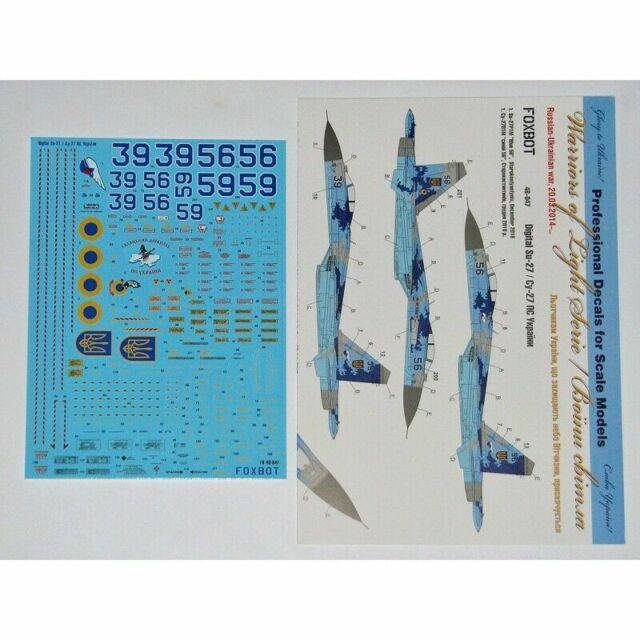 Foxbot 48-047 1/48 Decals Sukhoi Su-27P, Ukranian Air