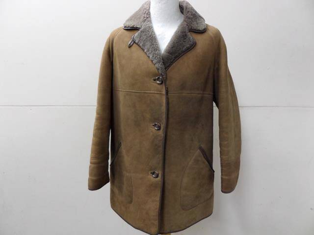 WOMENS WESTCOUNTRY SHEEPSKIN COAT BROWN SIZE 18 40  VGC SKU NO U486