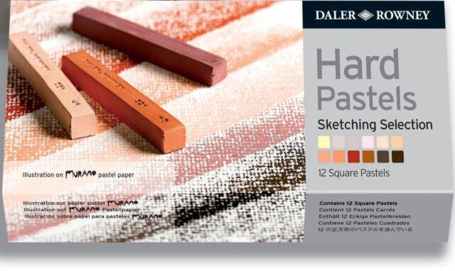 Daler Rowney Hard Pastel Set - 12 Sketching Selection