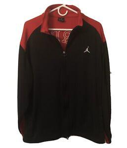 Nike-Air-Jordan-Black-and-Red-Men-s-Large-Long-Sleeve-Zip-Up-Jacket-EUC