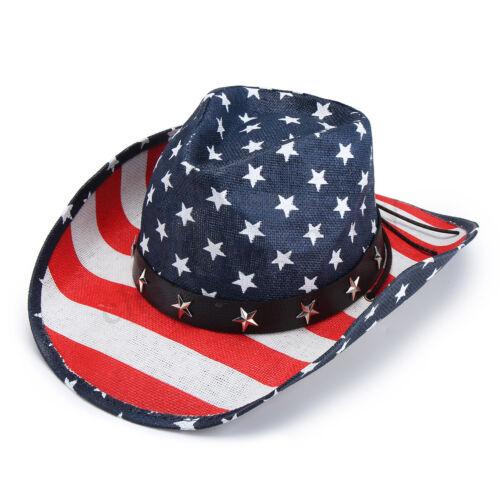 Men Women Cotton Cowboy Hat Western Cap Panama Wide Brim Sombrero Sunhat Winter