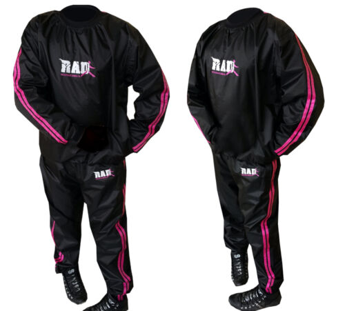 RAD™  Sweat Sauna Suit Pink Gym Training Track Suit Unisex Slimming Weight Loss
