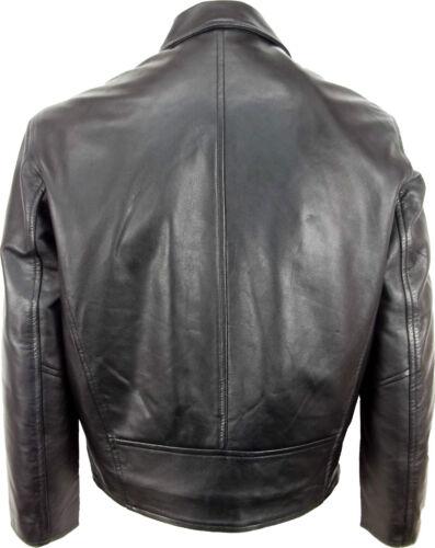 Unicorn homme classique shirt look manteau-vrai veste en cuir-noir nappa #HC