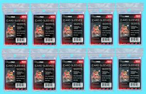 1000-ULTRA-PRO-Soft-CARD-SLEEVES-NEW-No-PVC-Penny-Sports-Trading-Hockey-Baseball