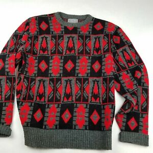 Vintage-Herren-XL-Le-Tigre-3d-COOGI-Style-Pullover-Bill-Cosby-Biggie-Hip-Hop-strukturiert