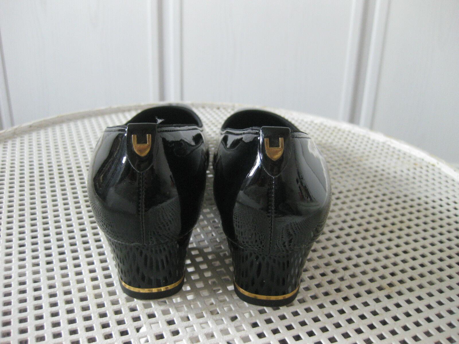 Ara - edle Pumps Gr. 6,5 Lackleder Lackleder Lackleder schwarz  NEU 4e87a6
