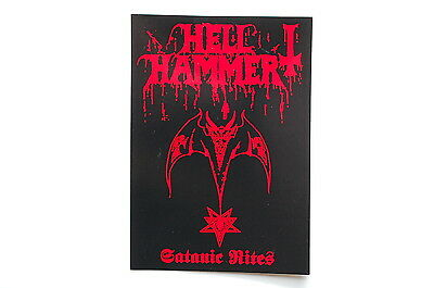 "482 Hellhammer Sticker Decal Car Bumper Window Rock Metal Music Apprx 5/""X3.5/"""