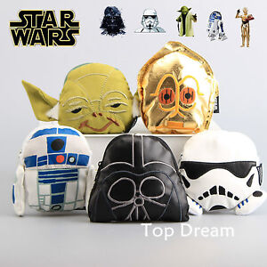 Star-Wars-Yoda-Stormtrooper-Darth-Vader-C-3PO-R2-D2-Plush-Wallet-Coin-Purse-Bag