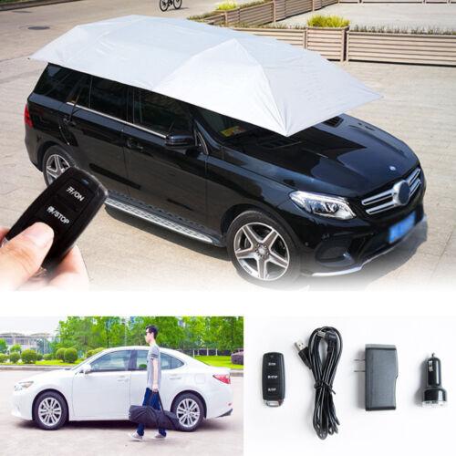 Grey Full Automatic Car Umbrella Tent Remote Control Operated Waterproof Anti UV