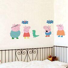 Large Cartoon Peppa Pig Wall Decals Removable Sticker Kids Art Nursey Home Decor