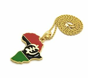GYE-NYAME-in-Africa-Map-Pendant-24-034-Box-Rope-Cuban-Chain-Hip-Hop-Necklace-XSP632