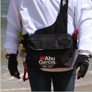 ABU GARCIA Waterproof Fishing Tackle Bag Pockets Waist Shoulder Reel Lure Bags
