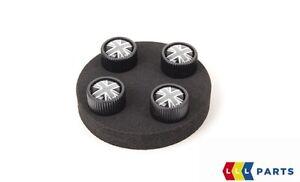 Genuine MINI Aluminium Black Jack Union Jack Tyre Valve Caps 36122182347
