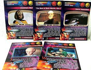 2 PROMO CARDS 3.5x2.5 STAR TREK ORIGINAL SERIES 2 SKYBOX AUTOGRAPH SHEET 8.5x11