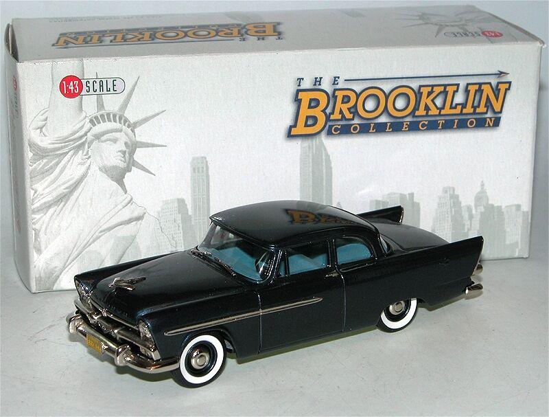 Brooklin modelle brk - 103 1956 plymouth plaza - club limousine dunkelblau 1   43
