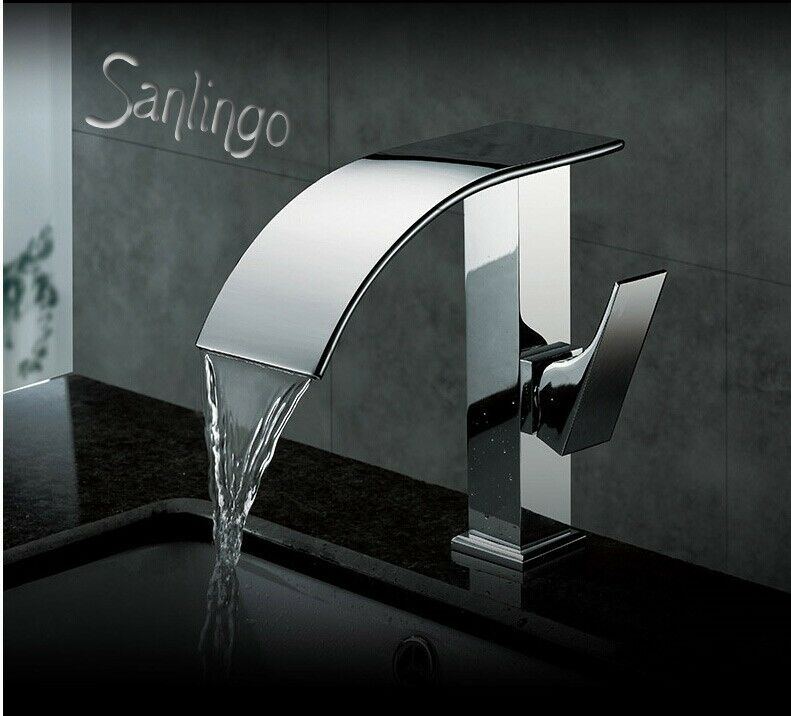 Wasserfall Armatur Schwall Armatur Badezimmer verchromt Sanlingo Sanlingo Sanlingo 818cfa