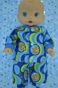 Play-n-Wear-Doll-Clothes-For-13-034-Baby-Alive-PJ-039-S-FLANNELETTE-PANTS-TOP-BOOTES