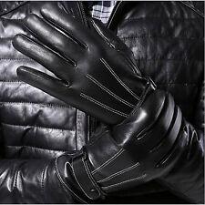 Winter warm treibende Handschuhe PU-Leder Touchscreen Handschuh