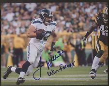 Luke Willson Seahawks Autographed 8x10 Photo With Inscription N