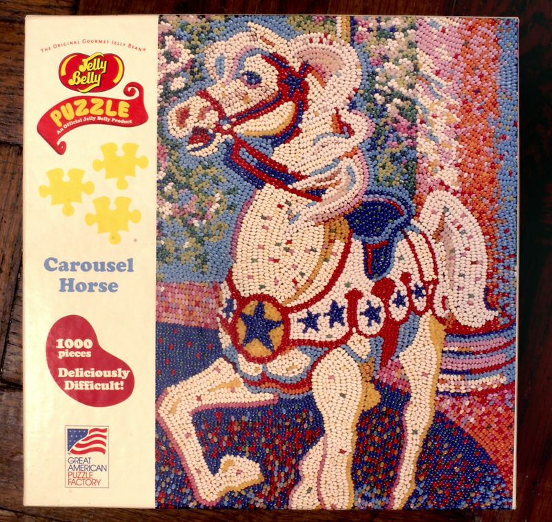 RARE JELLY BELLY Weiß Carousel Horse JELLY BEAN Puzzle 1000 pc