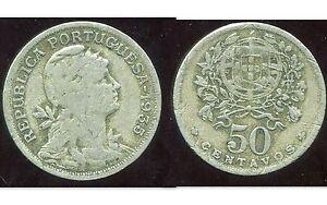 Portugal 50 Centavos 1935 ( Bis )