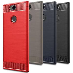 Facile-Plaine-Case-pour-Sony-Xperia-XA2-Plus-Coque-Silicone-Cover-Bumper-Doux