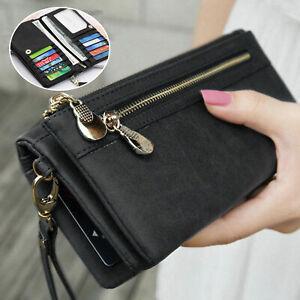 Women Lady Leather Wallet Card Holder Phone Bag Case Purse Handbag Retro Style