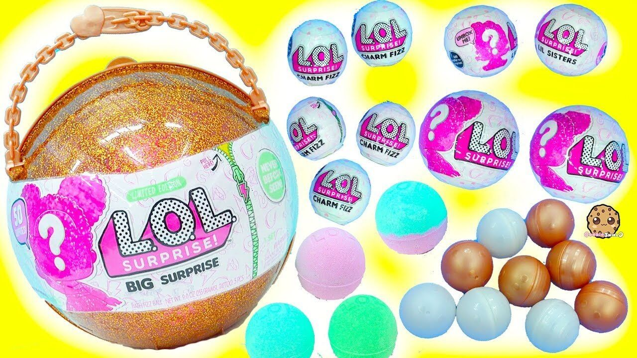Lol Big Surprise Ball Limited Edition Gold Glitter 50 Surprises Htf