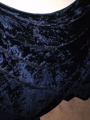 """1 MTR ROYAL BLUE  ALL OVER SEQUIN TULLE FABRIC..58/"""" WIDE £8.99 SPECIAL OFFER"""