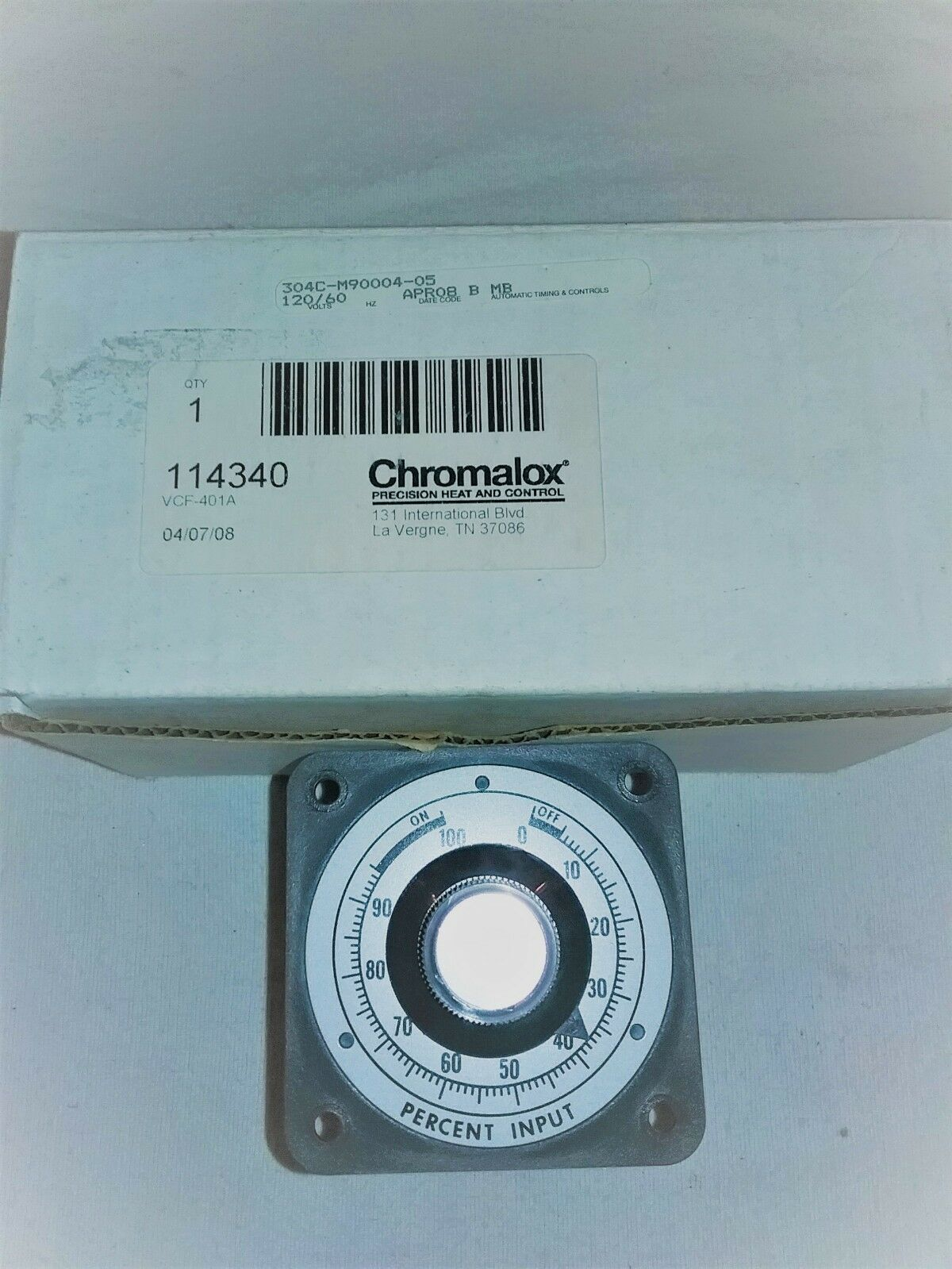 CHROMALOX VCF-401A INPUT CONTROLLER, NEW IN BOX 114340