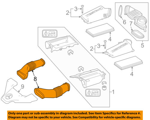 Air Cleaner Intake-Inlet Hose Duct Tube Left 1560941582