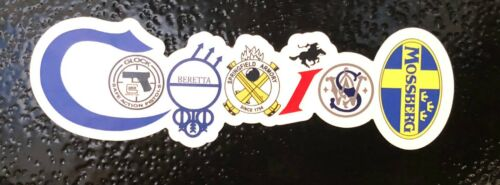 Coexist Gun Logos Fridge Magnets 3pk