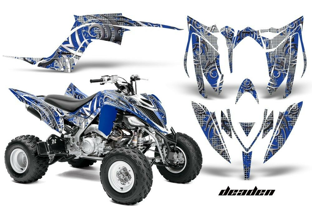Atv Grafik Kit Sticker Sticker Sticker für Yamaha Raptor 700r 2013-2018 Deaden Blau 05f881